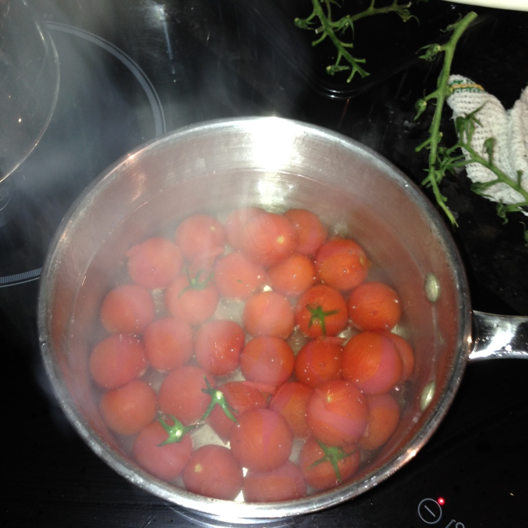 Tomatoes boiling in Water