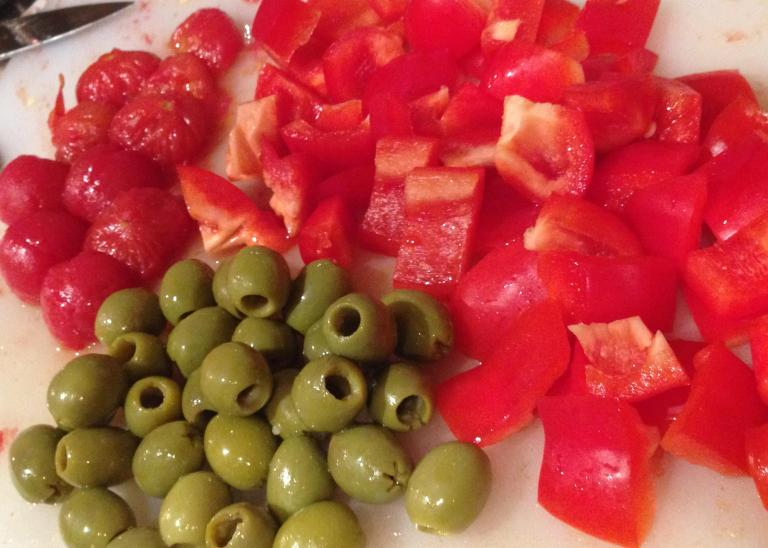Tomatoes, Peppers and Olives