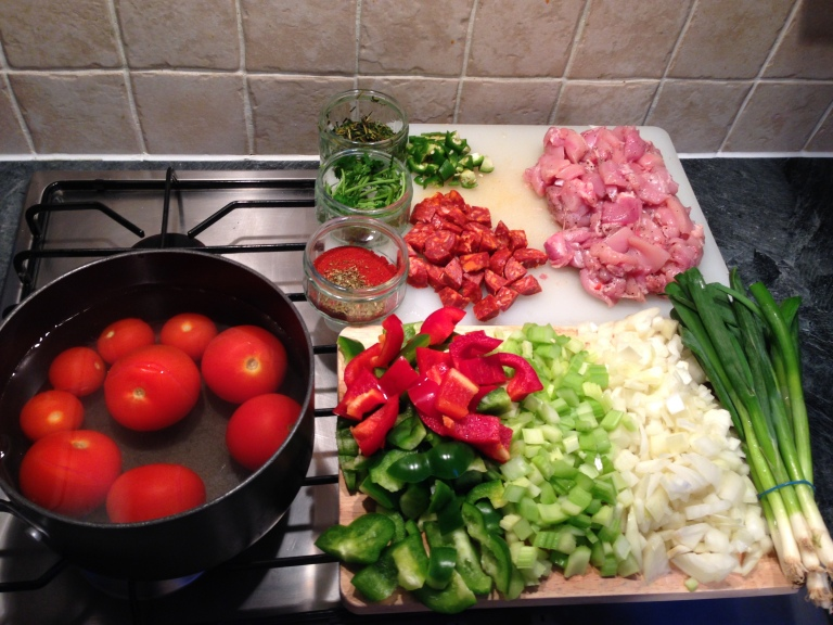 chicken-chorizo-jambalaya-ingredients