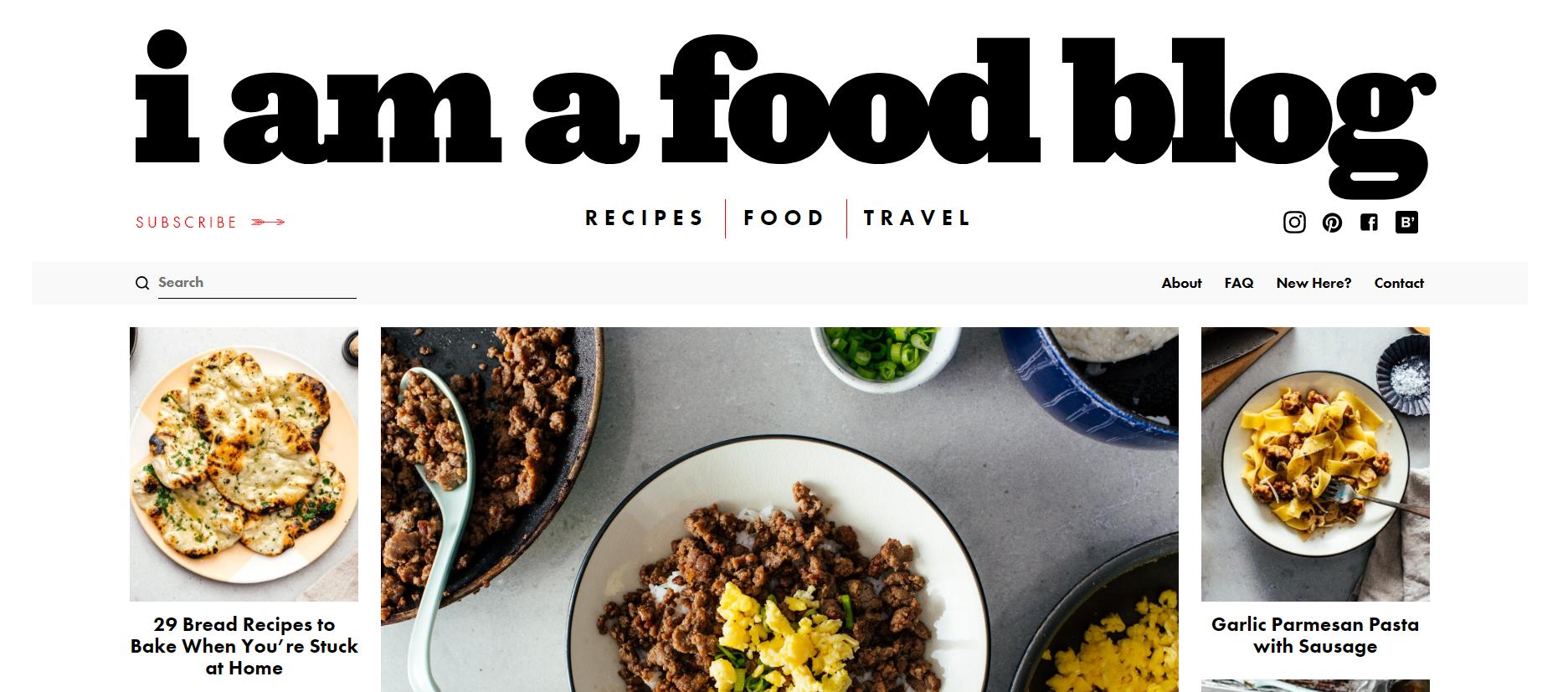 a im a food blog
