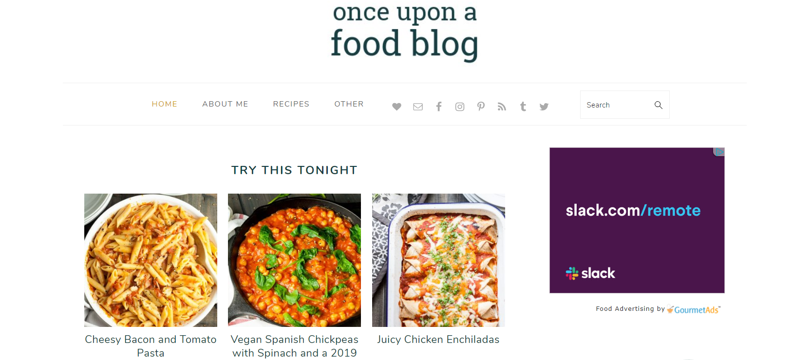 a once upon a food blog